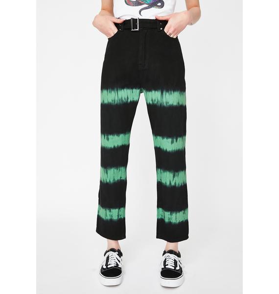 Liquor N Poker Tie Dye Straight Leg Jeans