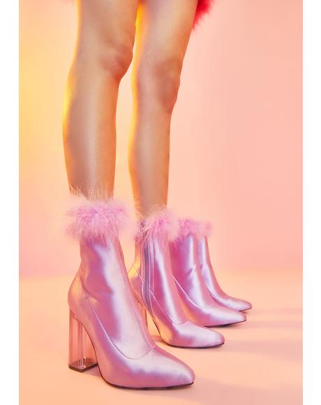 Baby Luv Me Or Hate Me Marabou Boots