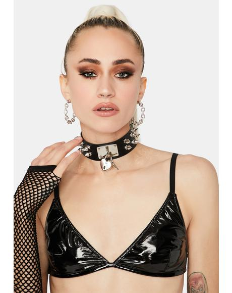 Dark Bound By Love Spiked Choker