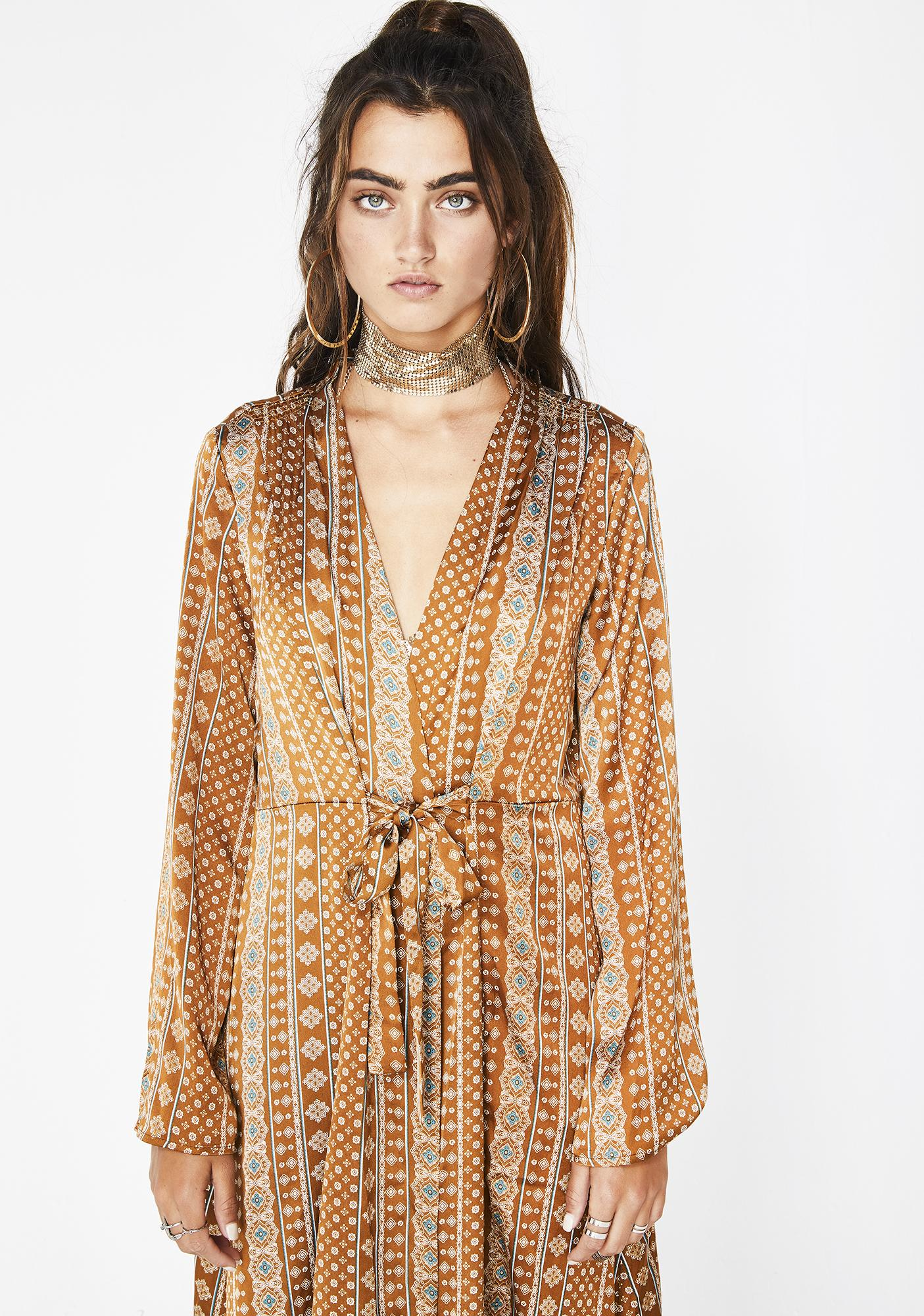 Blowin' In The Wind Geometric Kimono