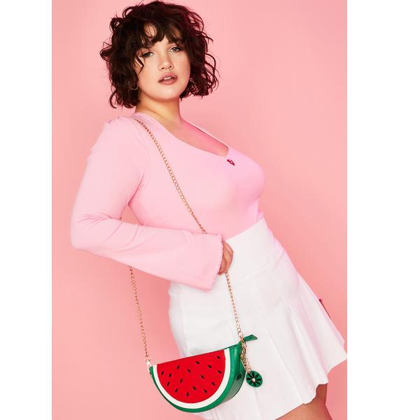 One In a Melon Crossbody Bag