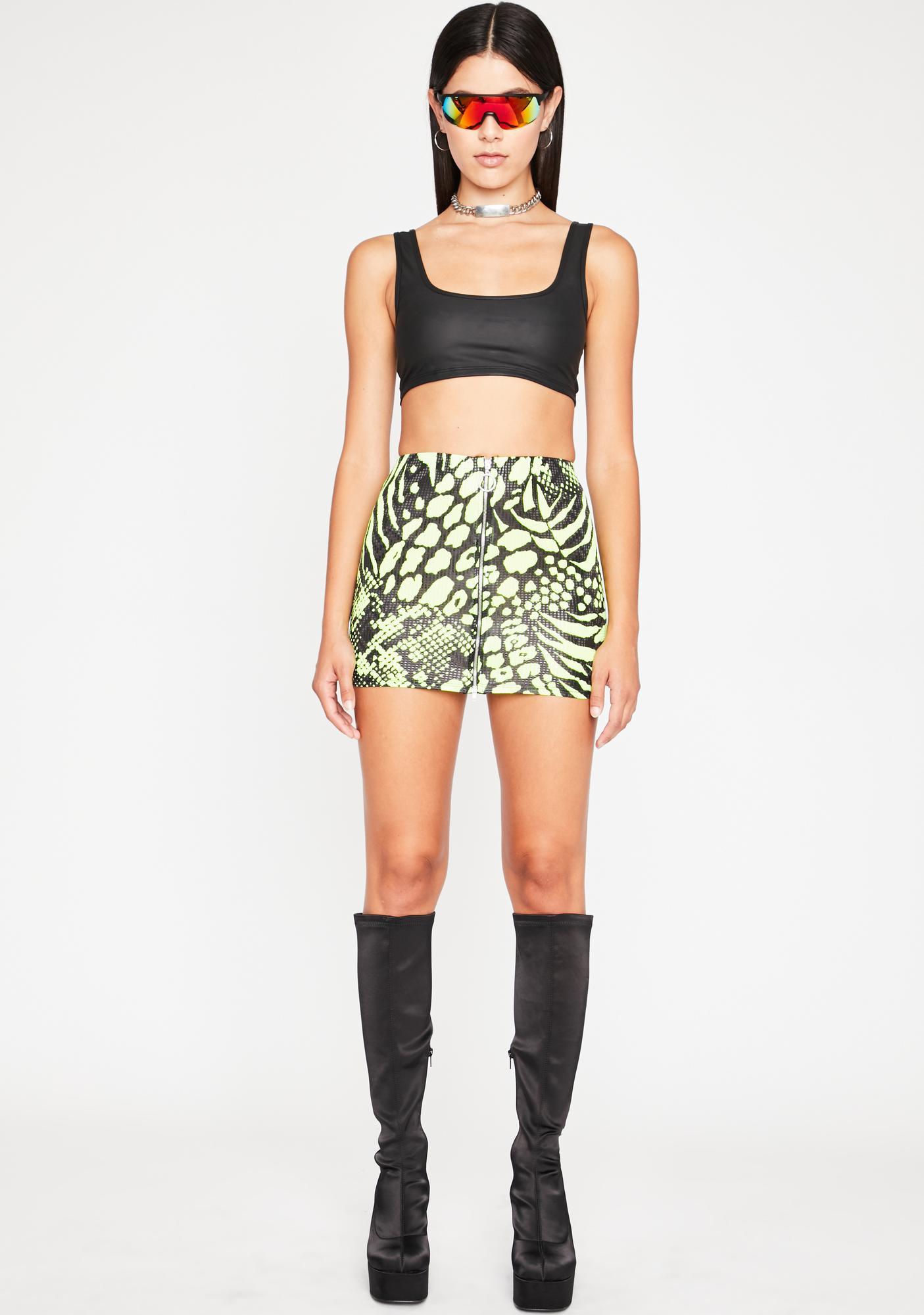 Rave Jungle Mini Skirt