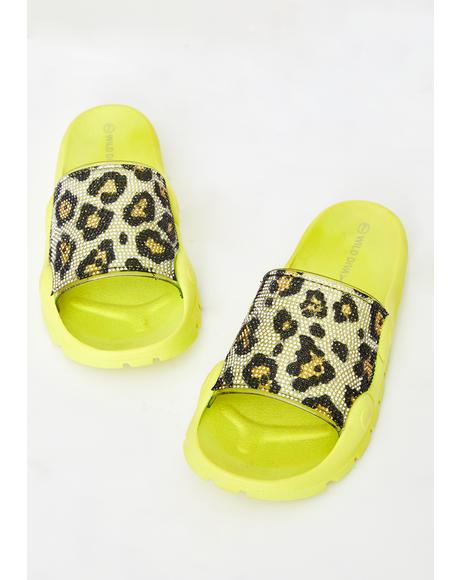Sour Freak Flair Leopard Slides