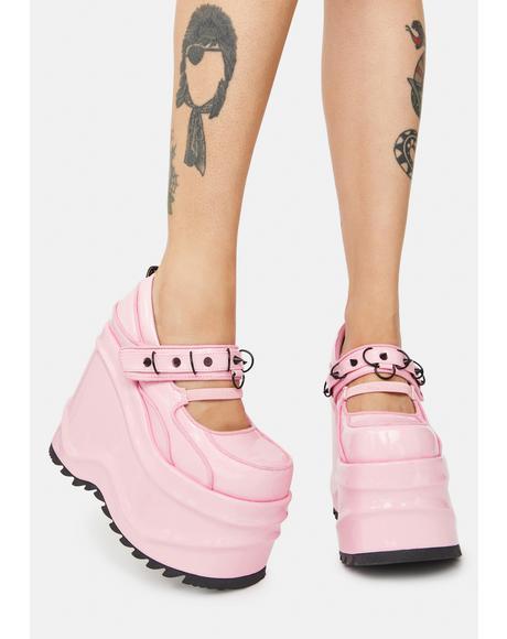 Pink Stomp Ur Ego Platform Mary Janes
