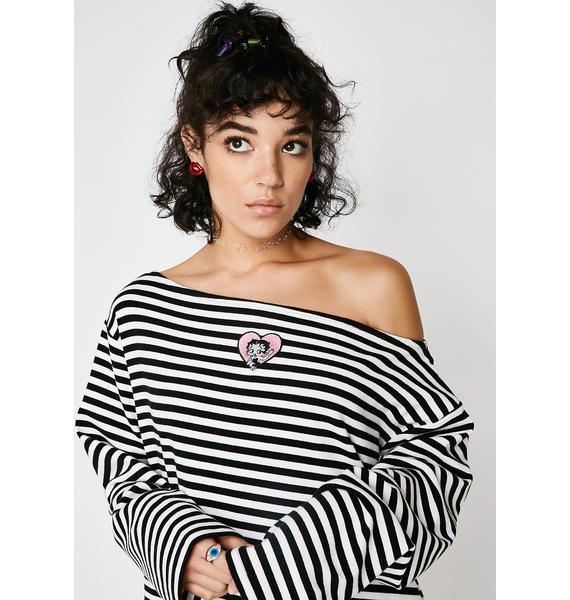 Lazy Oaf Betty Boop Striped Shirt