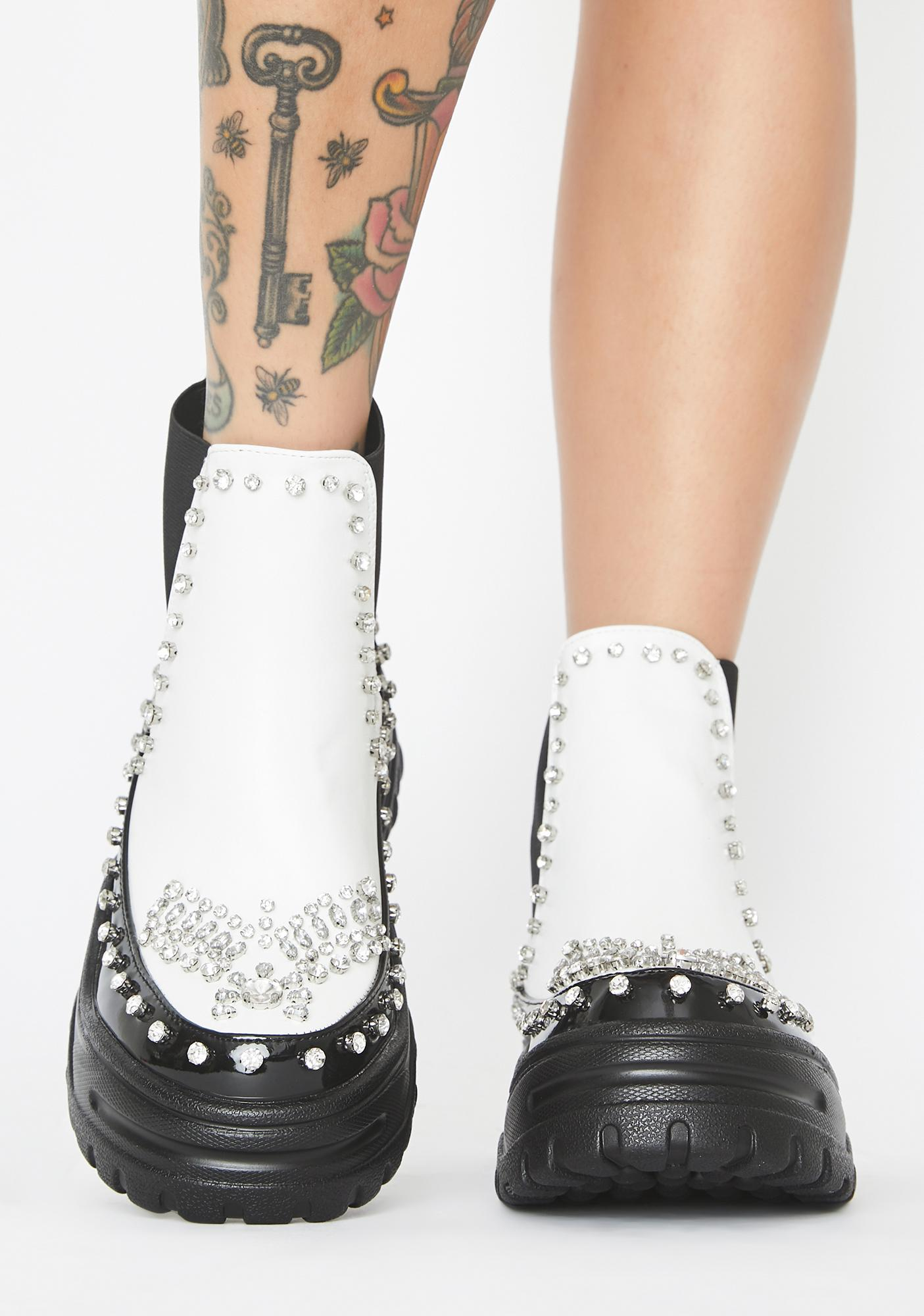Icy In My Lane Platform Boots