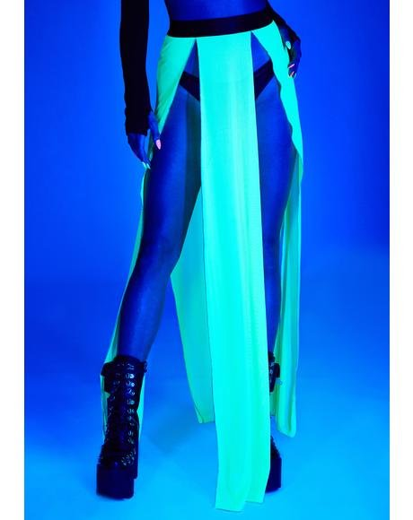 Glowing Beatz Sheer Maxi Skirt