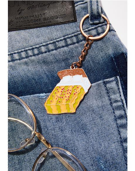 Motel Bed Keychain