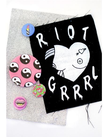 Riot Grrrl Patch 'N Pin Set