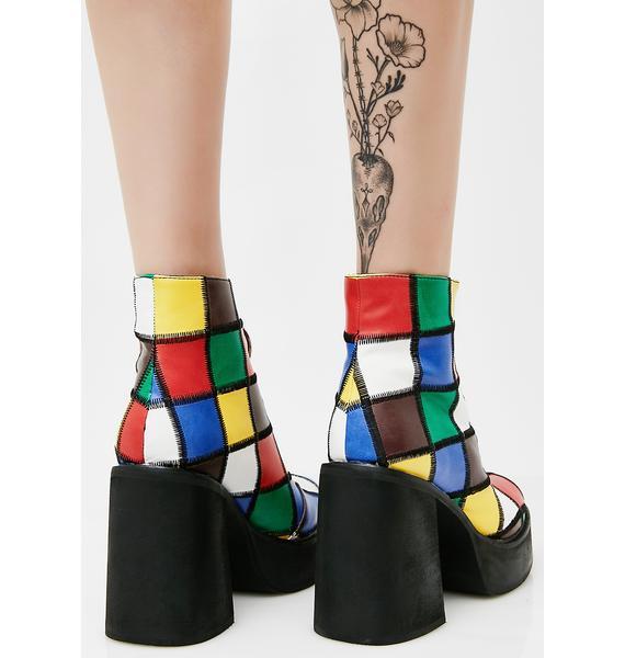 Current Mood Barnie Platform Boots