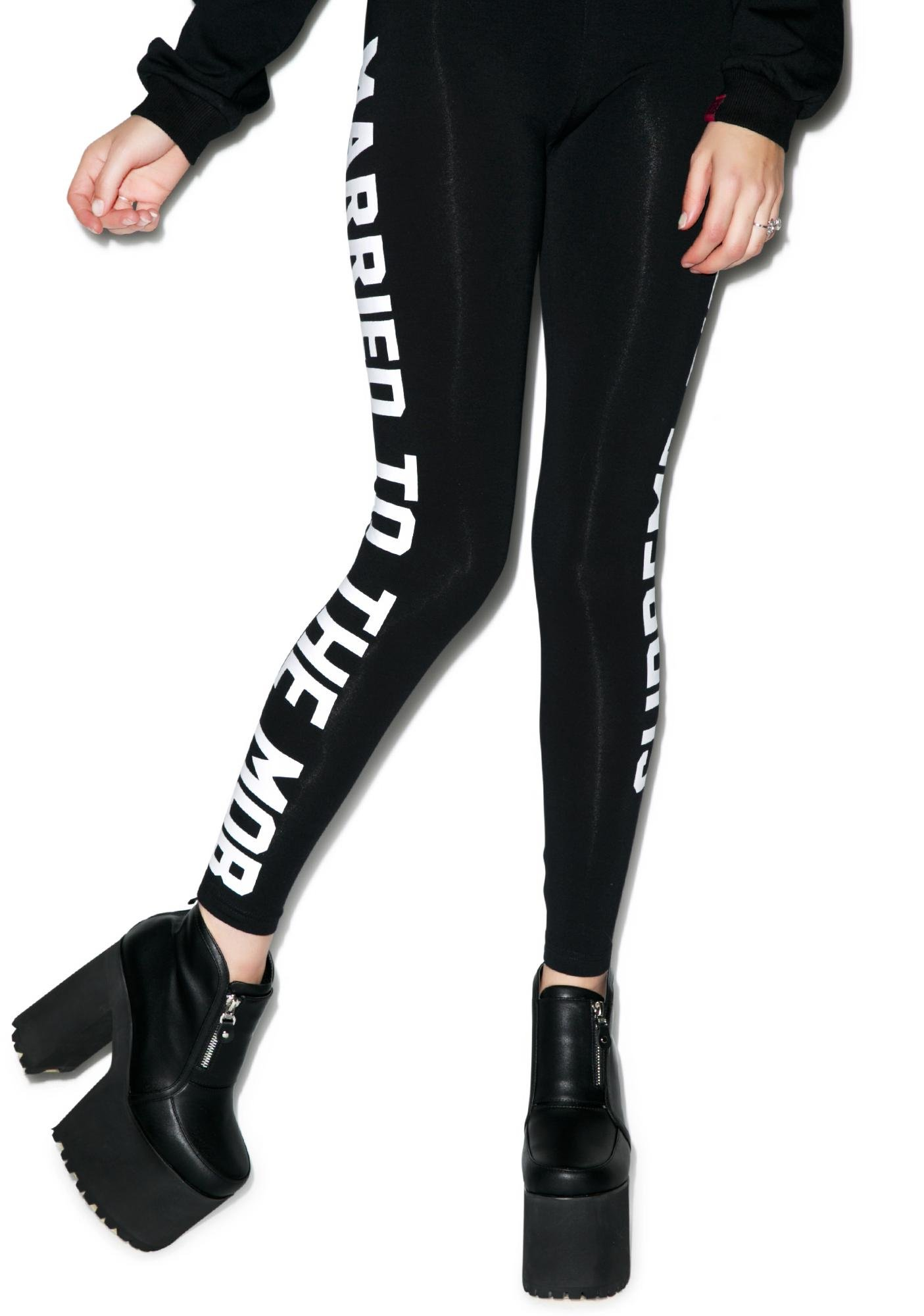 Married to the Mob Supreme Bitch Leggings