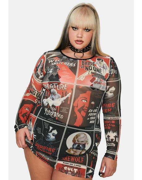 Real Fears On Film Mesh Dress