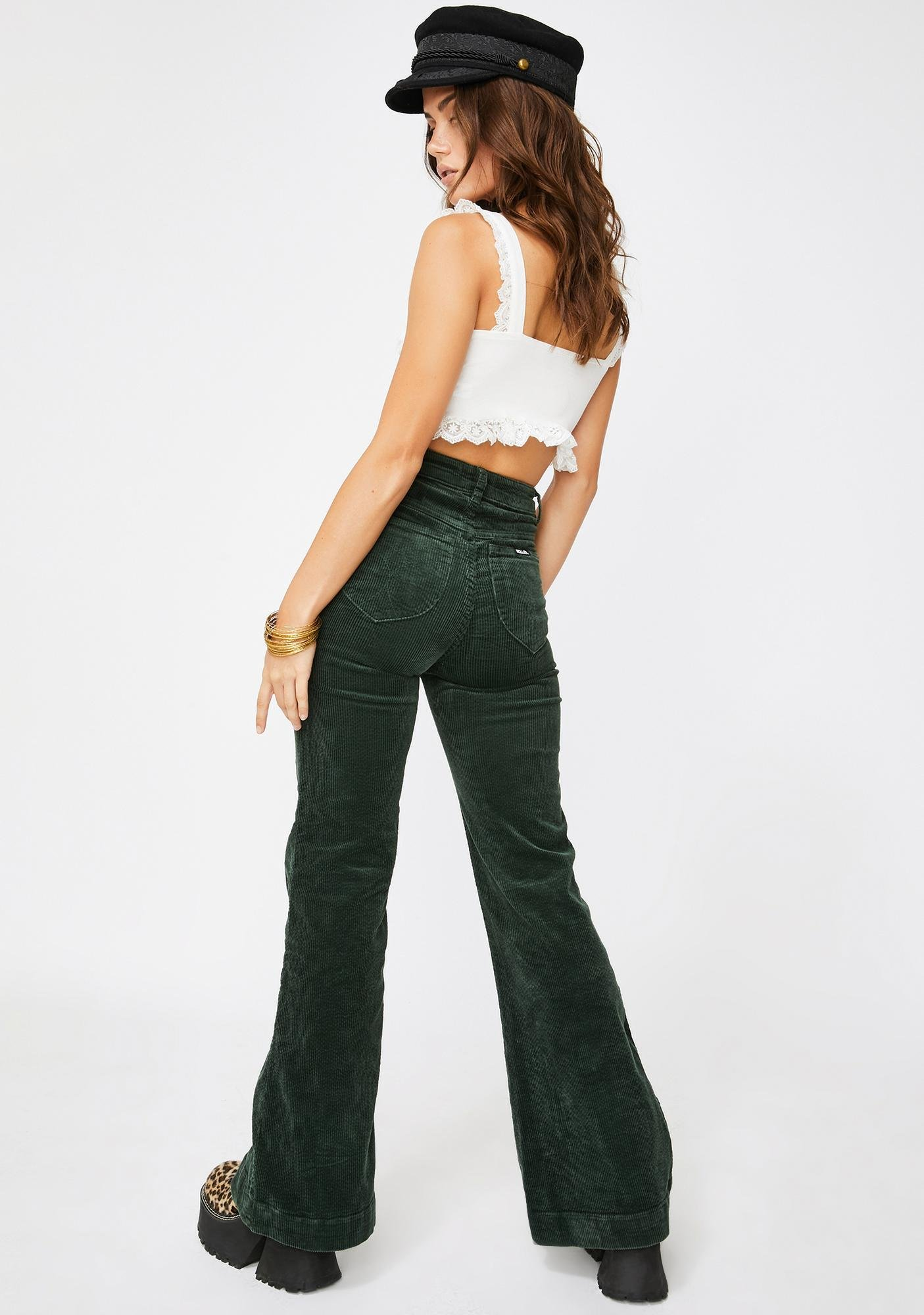 Rollas Ivy Eastcoast Corduroy Flare Pants