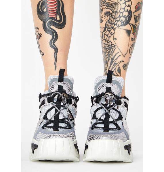 Anthony Wang Stop Look N' Glisten Platform Sneakers