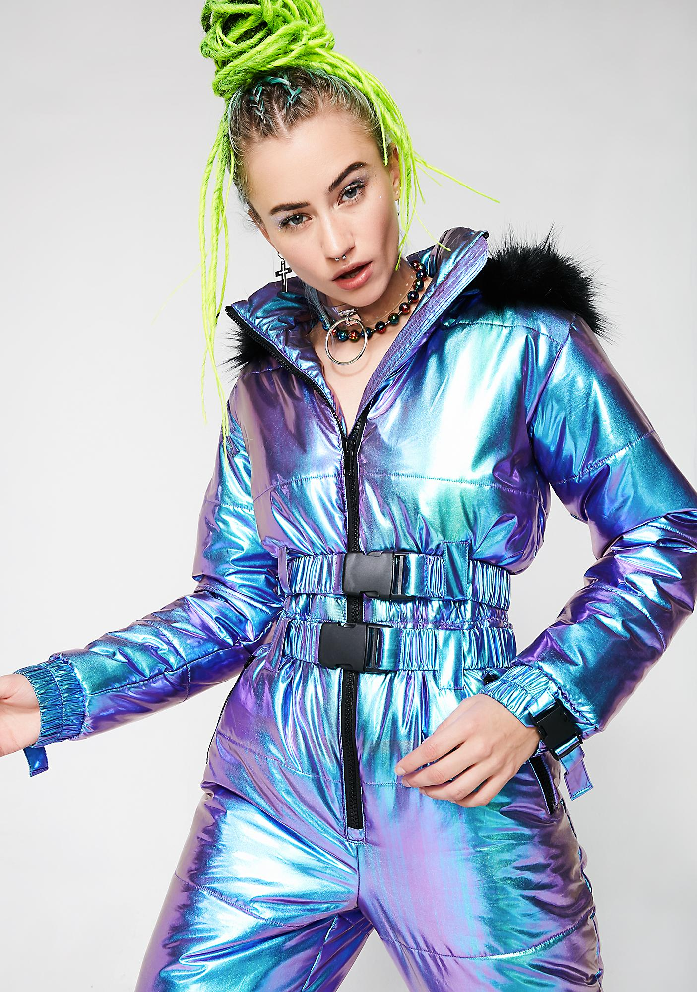 Club Exx Colder Than Your Heart Puffer One-Piece
