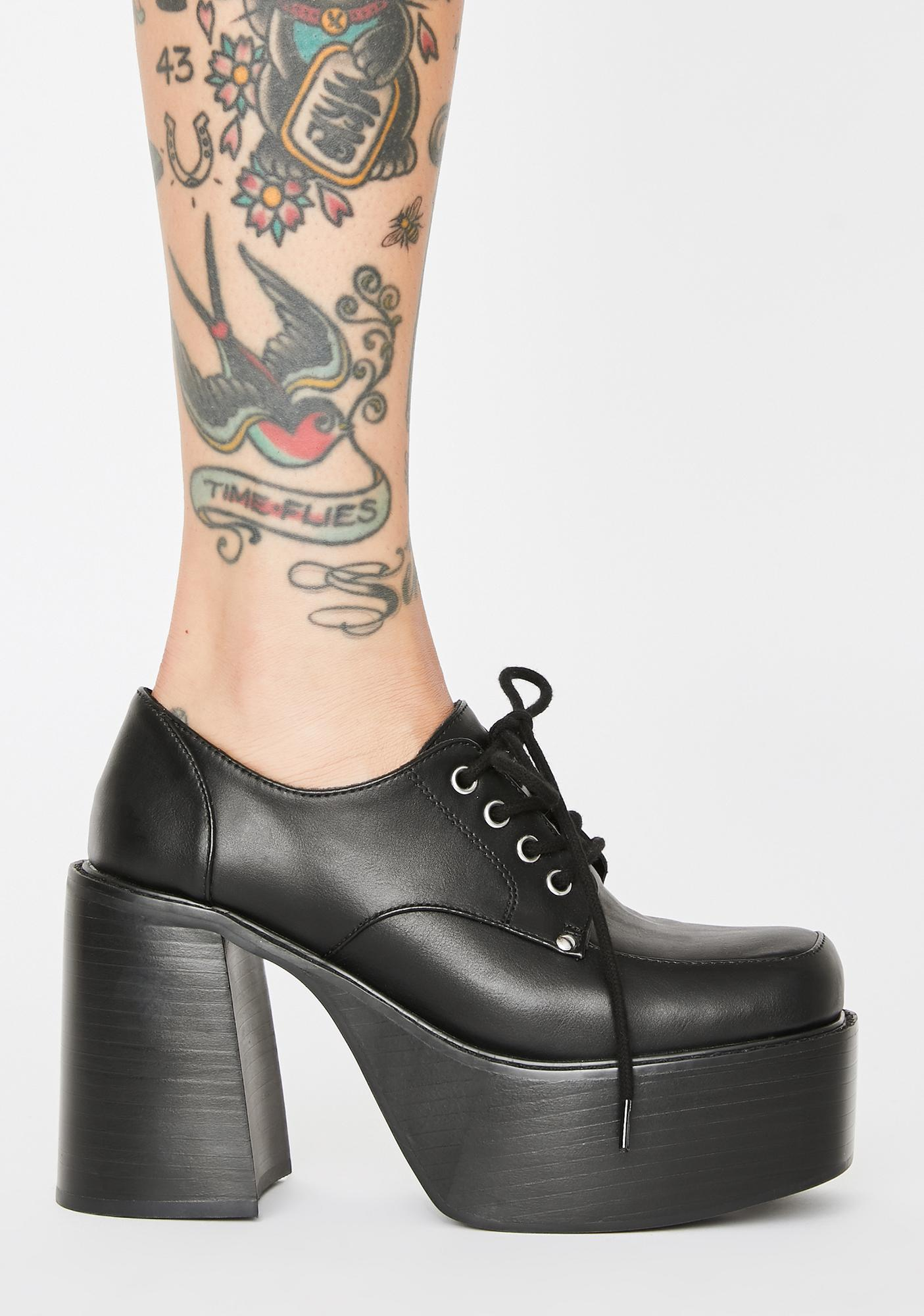 dELiA*s by Dolls Kill Teacher's Pet Platform Heels