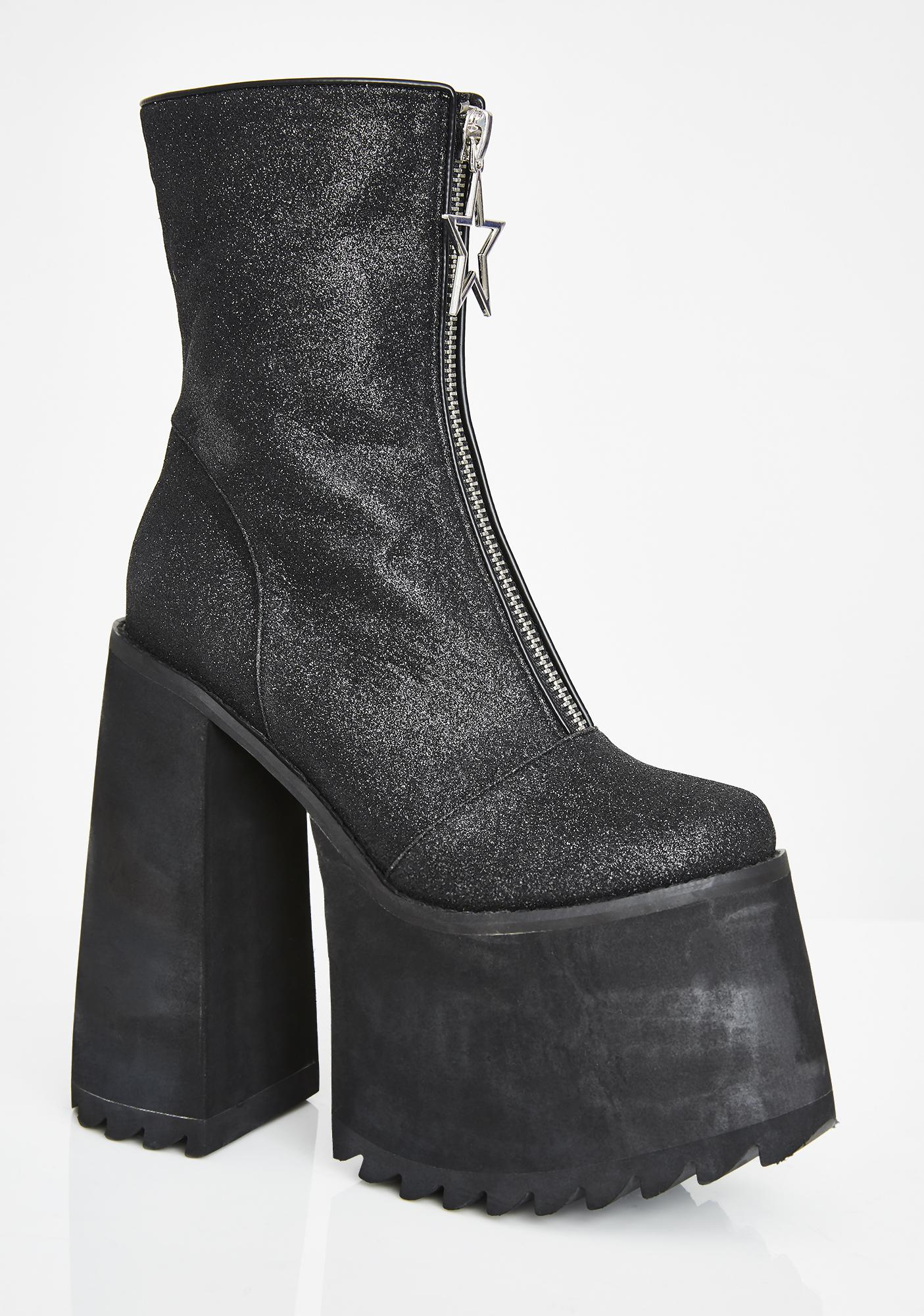 Current Mood Superstar Envy Platform Boots