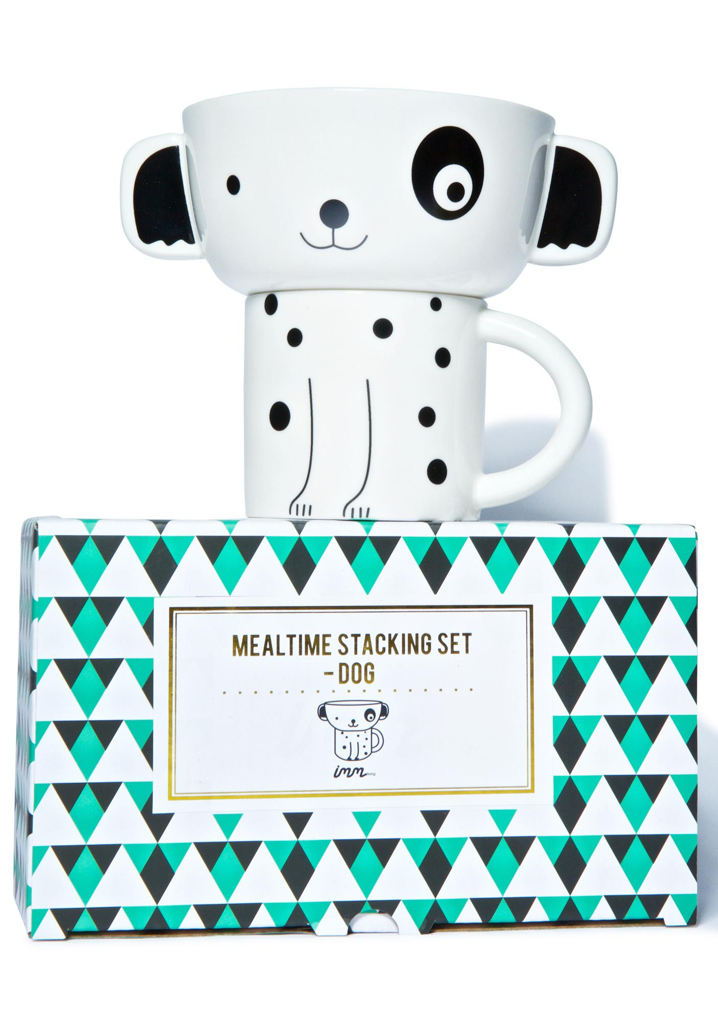Dog Mealtime Stacking Set