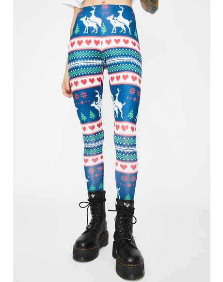 Jolly Good Time Graphic Leggings