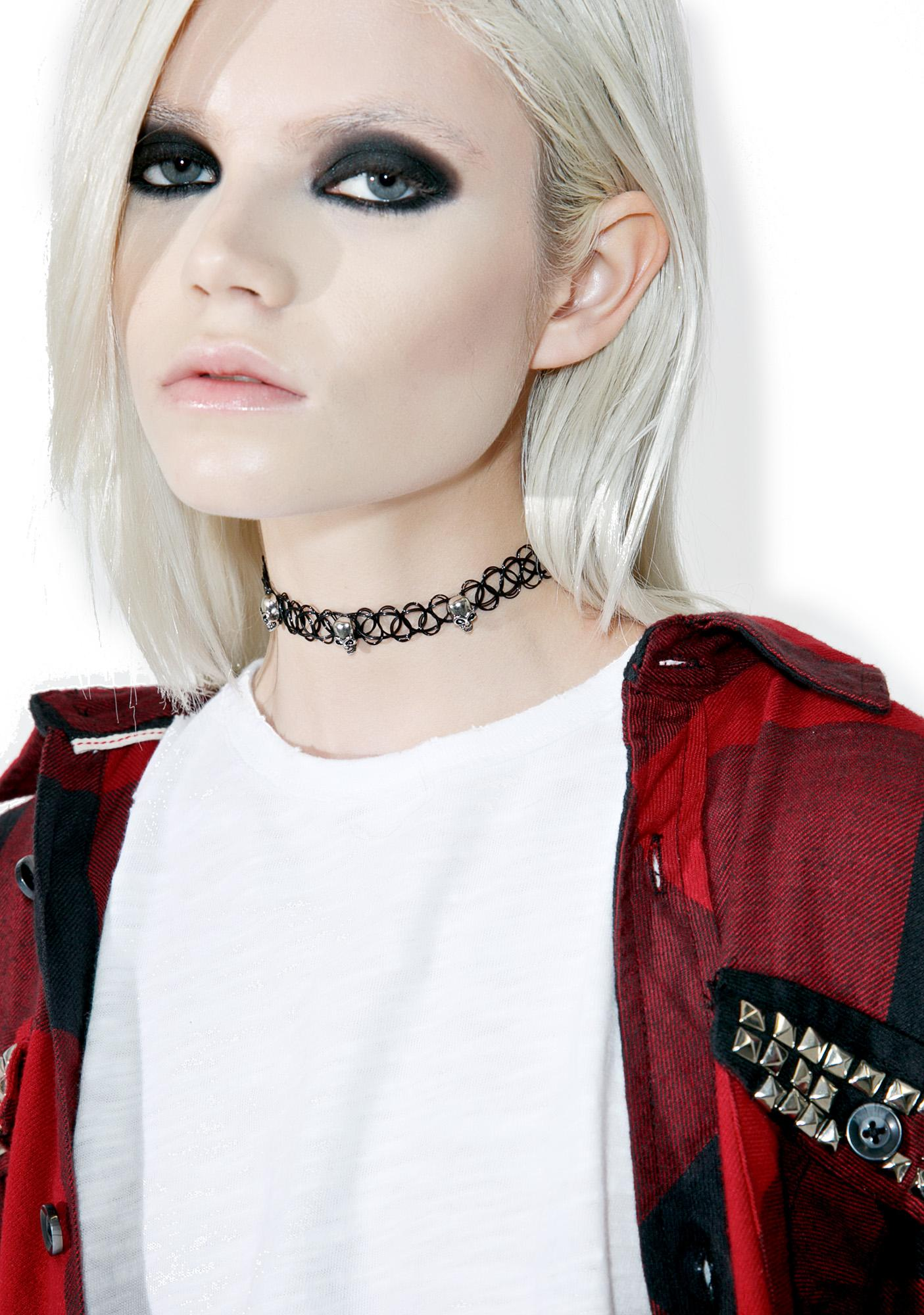 Skully Tattoo Choker
