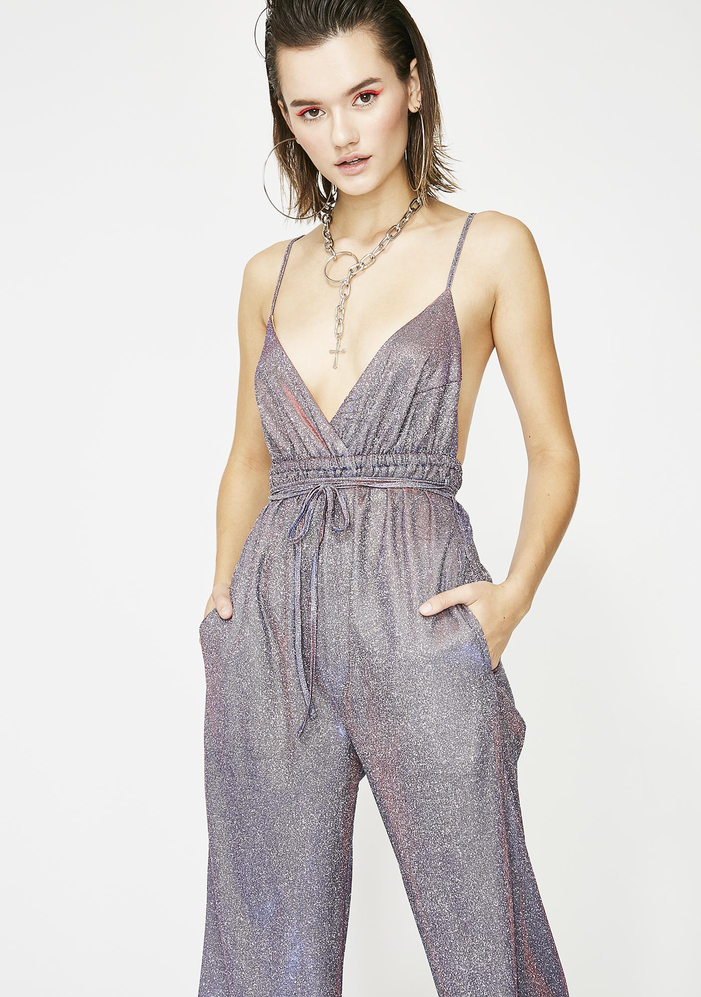 dfb360d3b1 Bow Down Bishes Glitter Jumpsuit