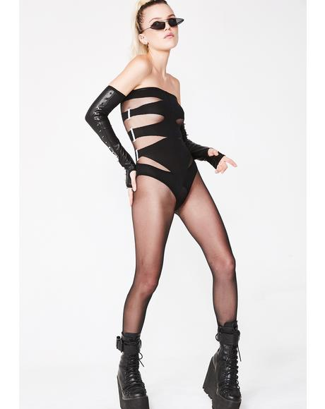 Bad Temper Strapless Bodystocking