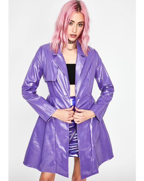Violet Fifth Avenue Fever Trench Coat