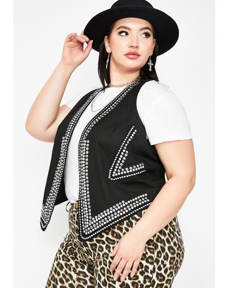 Outlaw Qween Studded Vest