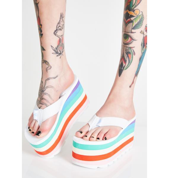 Y.R.U. Ice Pixi Rainbow Platform Sandals