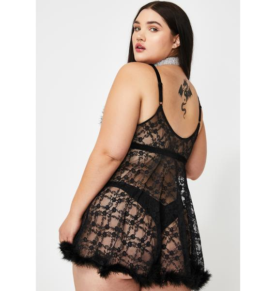 Luxe Sinful Night Babydoll Set