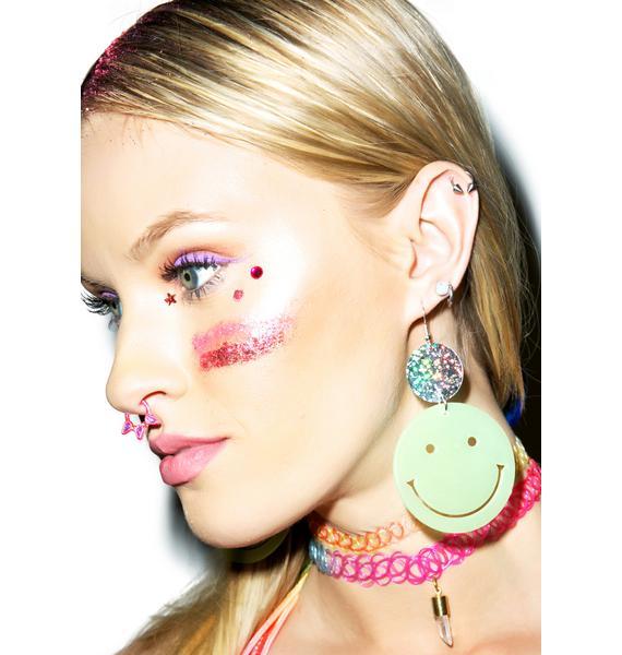 Trixy Starr Smiley Face Glow Earrings