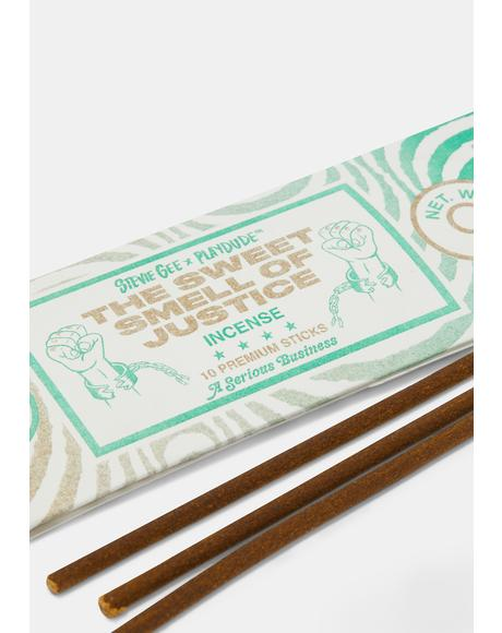 The Sweet Smell of Justice Incense