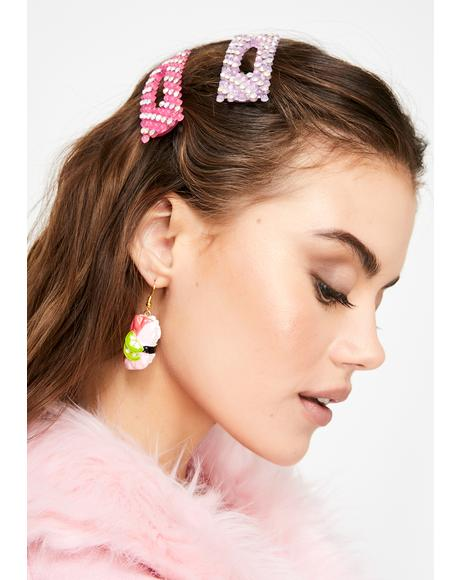 Pastel Pleasures Hair Clip Set