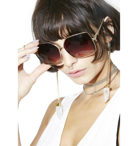 My Willows Chain Square Sunglasses