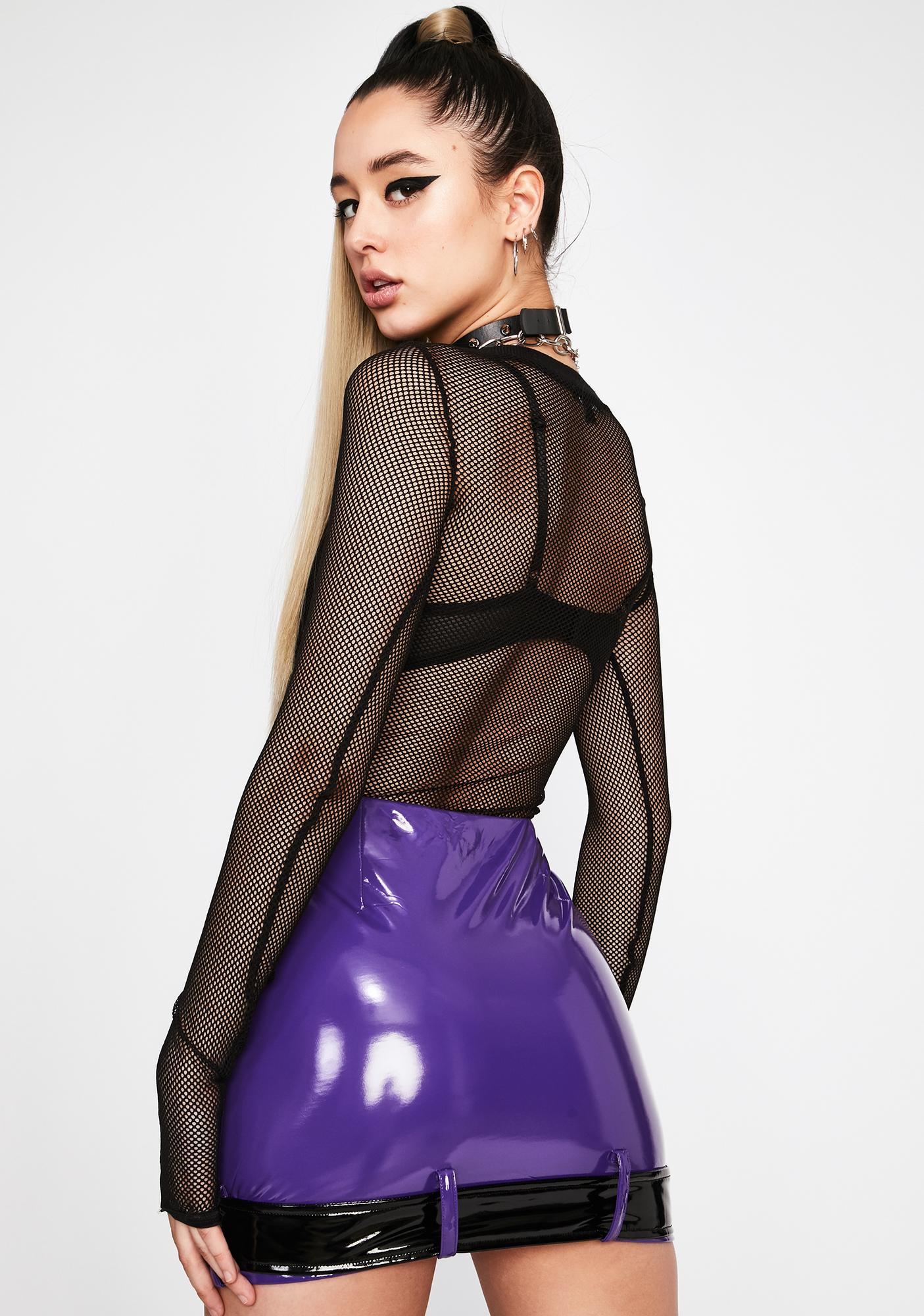 Purp Straight To Stereo Vinyl Skirt