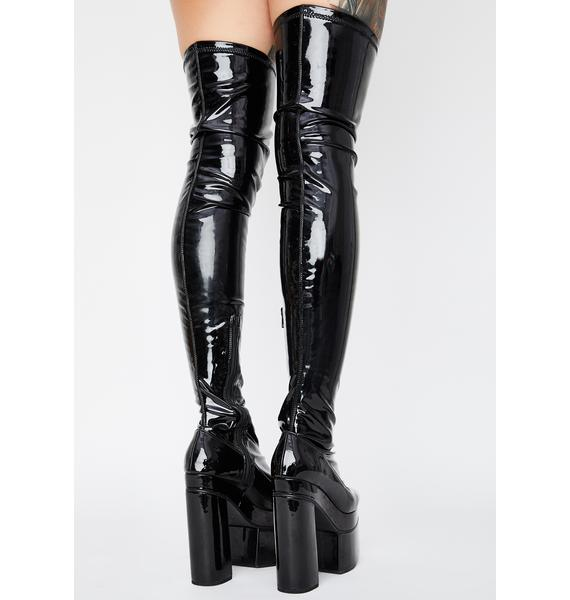 Current Mood Vampette Patent Thigh High Boots
