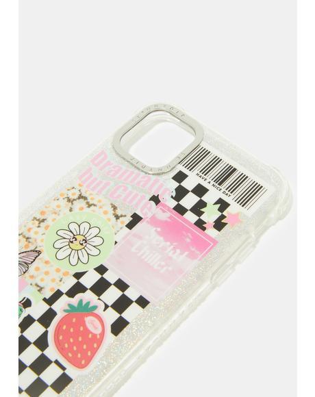 Stickered iPhone Case