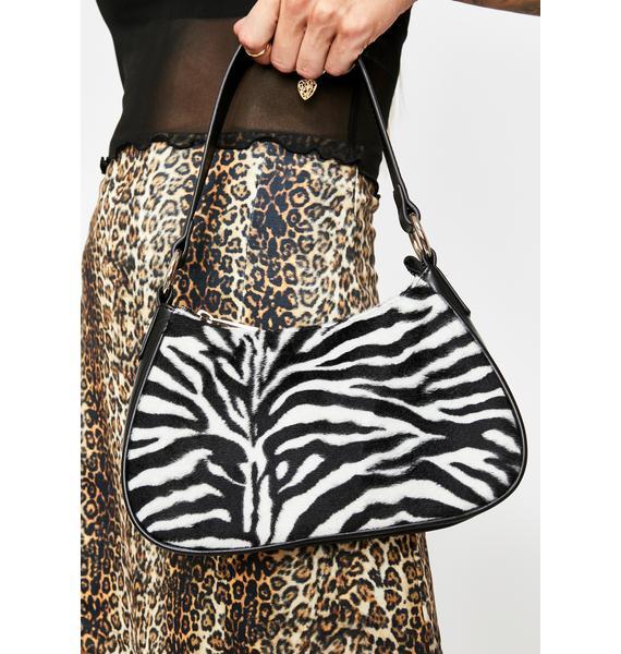 Current Mood Kween Kingdom Zebra Handbag