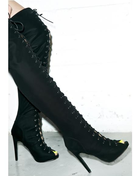 Priestess Lace Up Boots