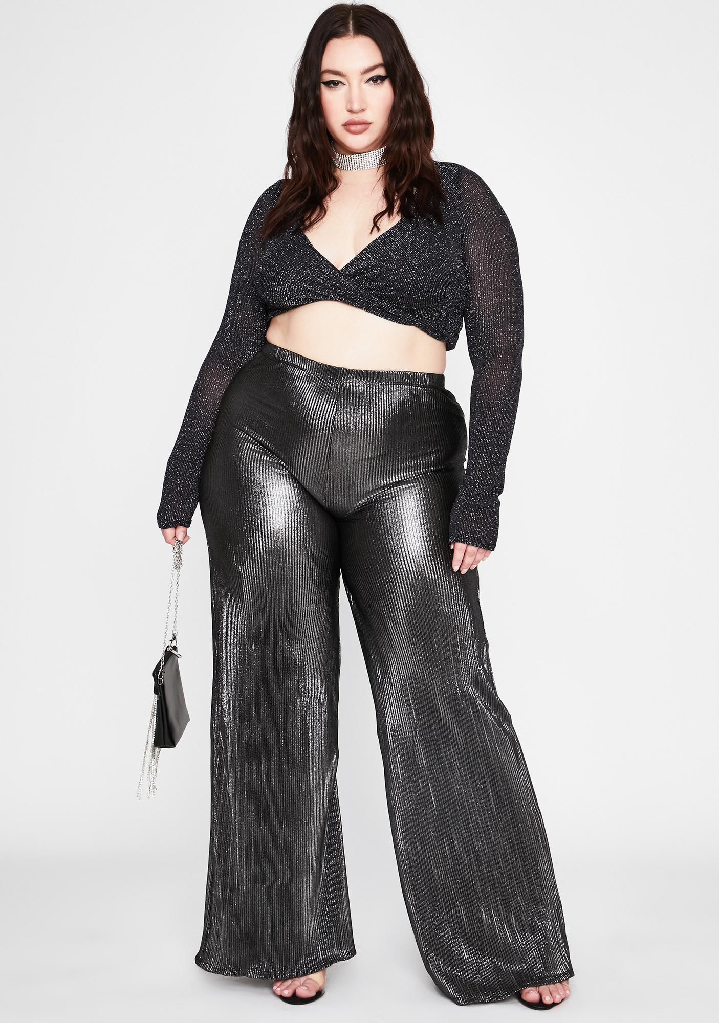 Her Dark Everyday Luxury Crepe Pants