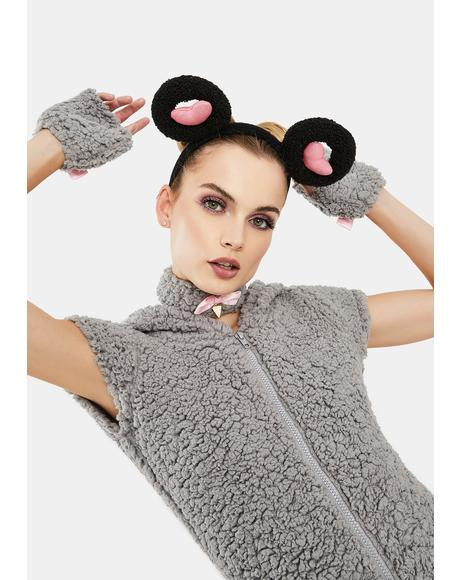 Pocket Mouse Fuzzy Headband