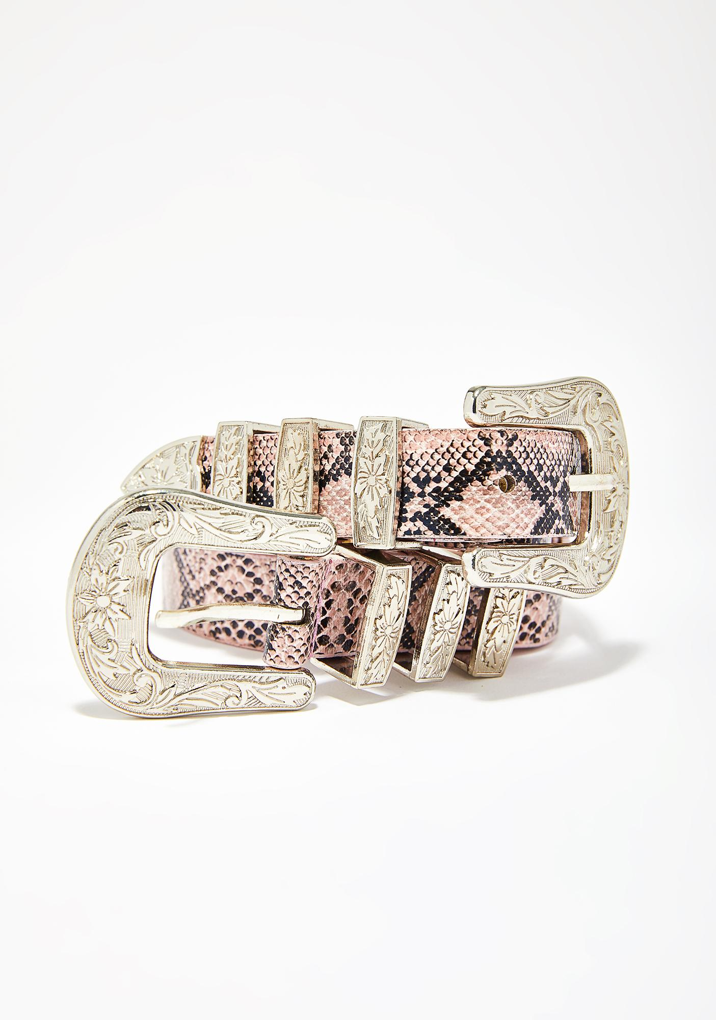 Wicked Cowgirl Double Buckle Belt