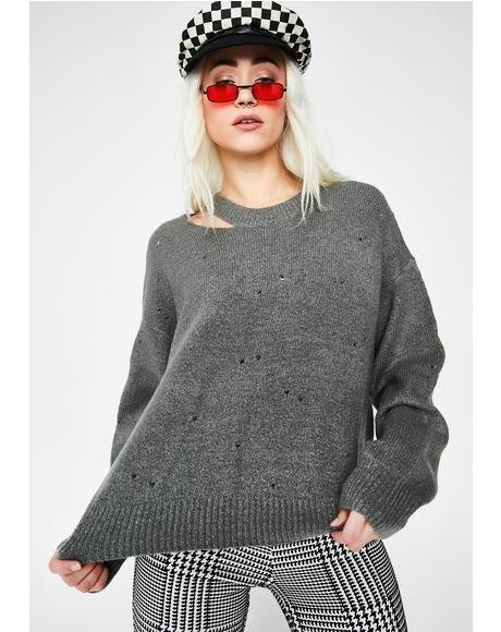 Rip Off Distressed Sweater