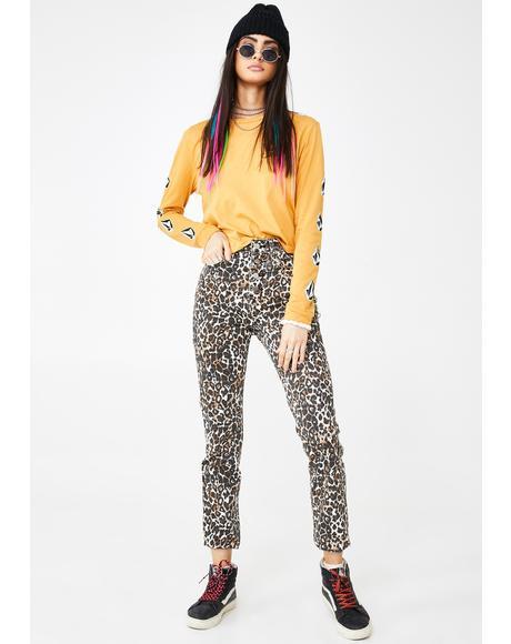 Animal Print Super Stoned Skinny Jeans