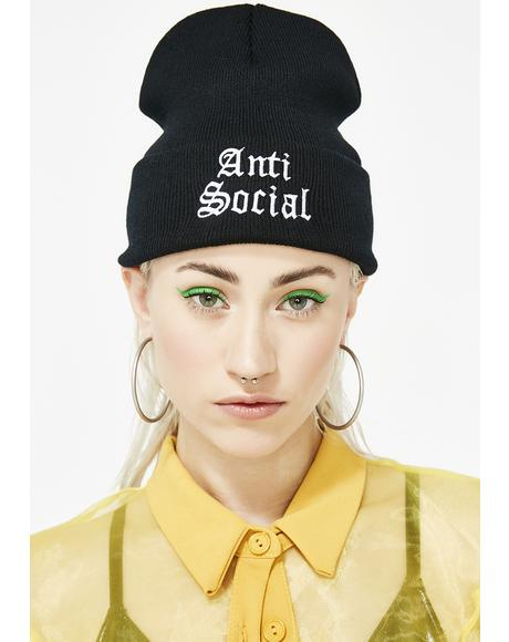 Anti-Socialite Ribbed Beanie