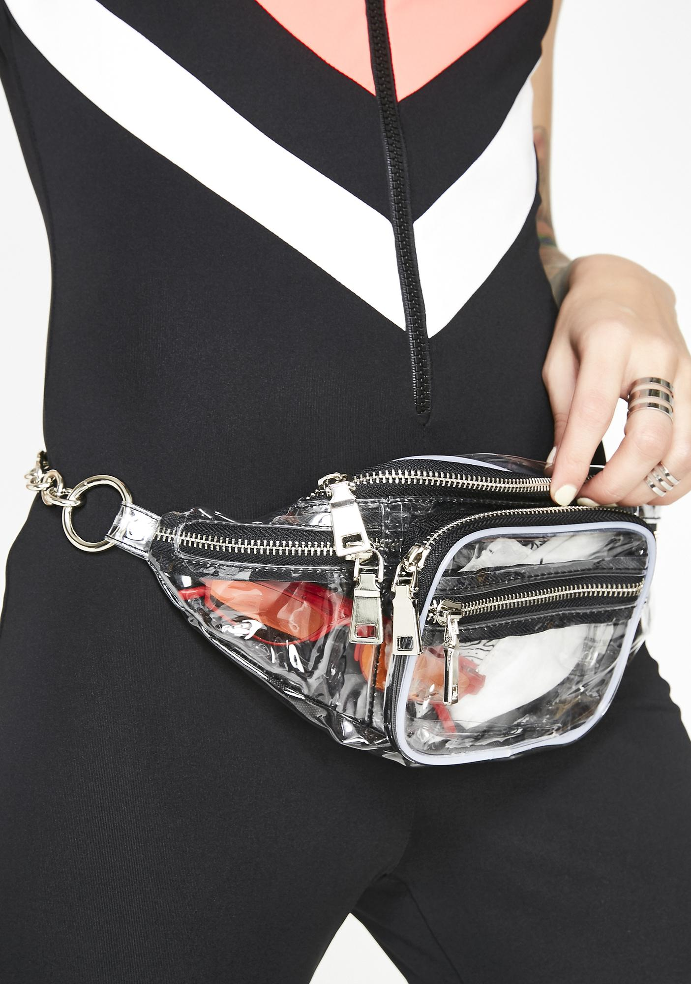 Fill Me Up Clear Fanny Pack by 3 Am Imports