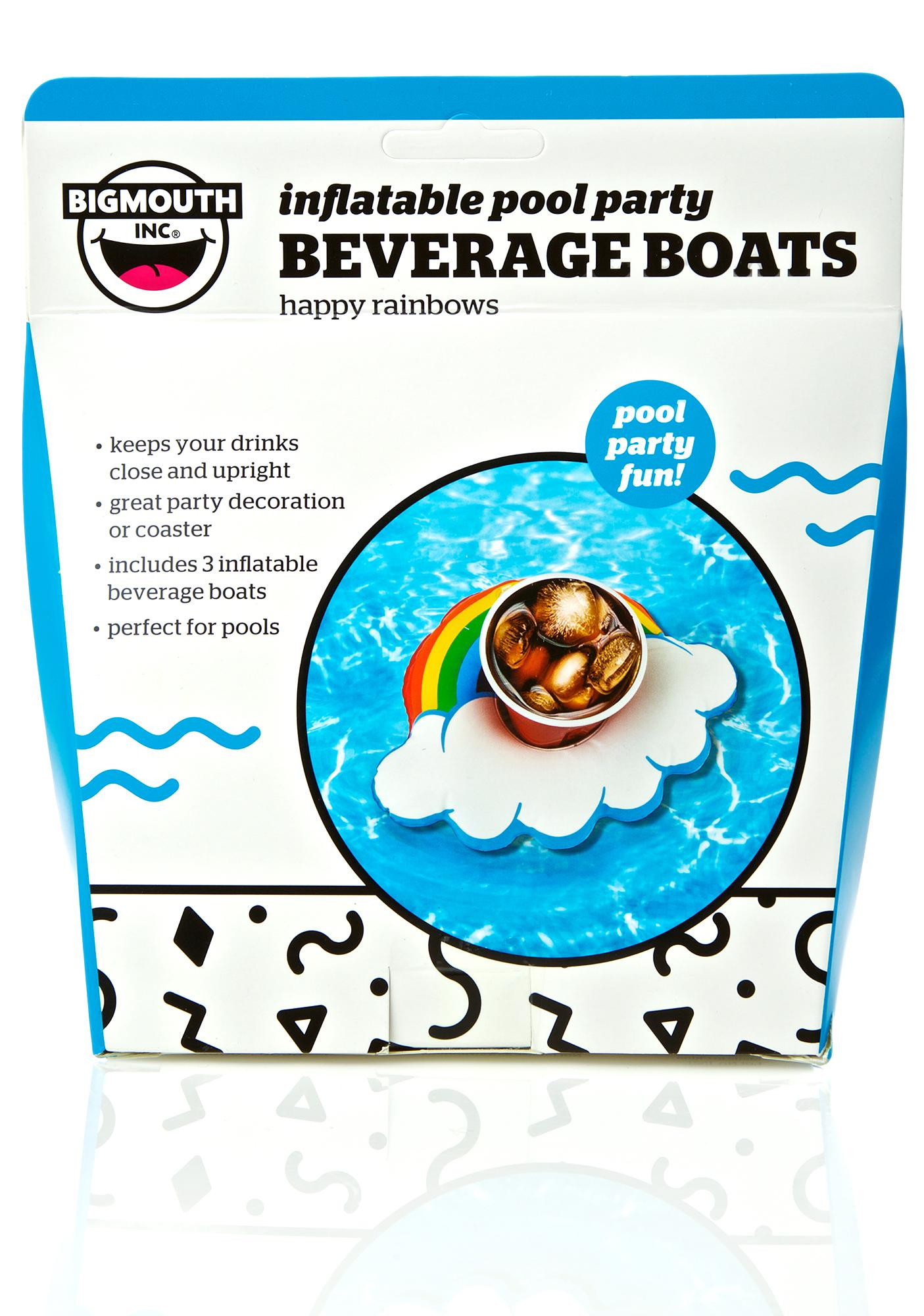 Happy Rainbow Drink Floats