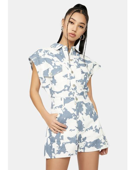 Fierce Talks Denim Utility Romper