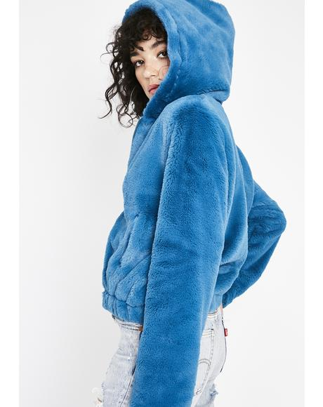 Peacock Cuddle Buddy Fuzzy Jacket