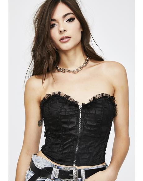 Givin' You Some Lace Bustier